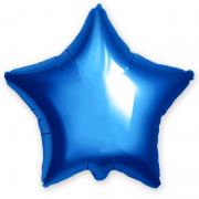 Шар (21''/53 см) Звезда, Синий, 1 шт.