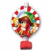 Язычок-гудок с карточкой Веселый Пират, 6 шт.