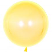 Шар (18''/46 см) Сфера 3D, Deco Bubble, Желтый, Кристалл, 1 шт.