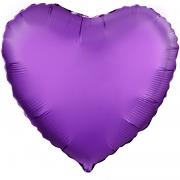Шар (19''/48 см) Сердце, Фиолетовый, 1 шт.