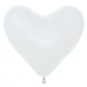 Шар-сердце (16''/41 см) Белый, пастель, 1 шт.