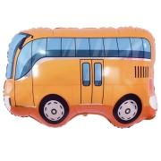 Шар (34''/86 см) Фигура, Автобус, Оранжевый, 1 шт.