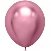 Шар (18''/46 см) Розовый, хром, 1 шт.