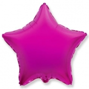 Шар (32''/81 см) Звезда, Пурпурный, 1 шт.