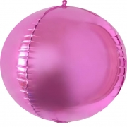 Шар (24''/61 см) Сфера 3D, Розовый, 1 шт.