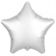 Шар (21''/53 см) Звезда, Белый жемчужный, Сатин, 1 шт.