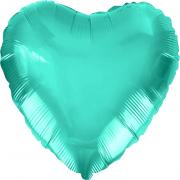 Шар (19''/48 см) Сердце, Тиффани, 1 шт.