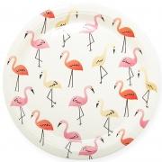 Тарелки (7''/18 см) Фламинго, Белый, 6 шт.