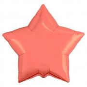 Шар (21''/53 см) Звезда, Коралловый, 1 шт.