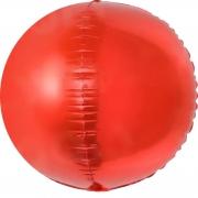 Шар (24''/61 см) Сфера 3D, Красный, 1 шт.