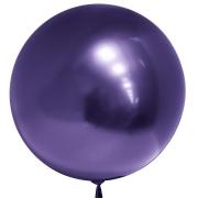 Шар (18''/46 см) Сфера 3D, Deco Bubble, Фиолетовый, Хром, 1 шт.