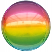 Шар (24''/61 см) Сфера 3D, Радужный, Градиент, 1 шт.