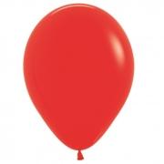 Шар (12''/30 см) Красный, пастель, 1 шт.
