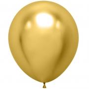 Шар (18''/46 см) Золото, хром, 1 шт.