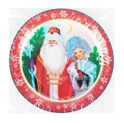 Тарелки (9''/23 см) Дед Мороз и Снегурочка, 6 шт.