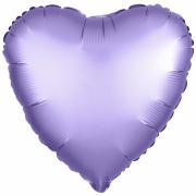 Шар (19''/48 см) Сердце, Аметист, Сатин, 1 шт.