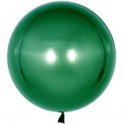 Шар с клапаном (18''/46 см) Сфера 3D, Deco Bubble, Зеленый, 1 шт.