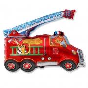 Шар (31''/79 см) Фигура, Пожарная машина, Красный, 1 шт.