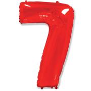 Шар Цифра, 7, Красный, 1 шт.