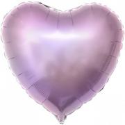 Шар (19''/48 см) Сердце, Сиреневый, 1 шт.