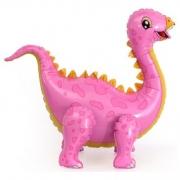 Шар (39''/99 см) Ходячая Фигура, Динозавр Стегозавр, Розовый, 1 шт.