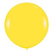 Большой шар (30''/75 см) Желтый, пастель, 1 шт.
