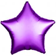 Шар (21''/53 см) Звезда, Фиолетовый, 1 шт.
