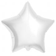 Шар (21''/53 см) Звезда, Белый, 1 шт.