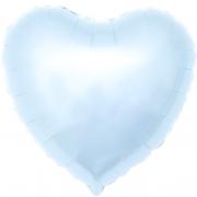 Шар (19''/48 см) Сердце, Светло-голубой, 1 шт.
