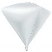 Шар 3D (27''/69 см) Алмаз, Белый, 1 шт.