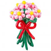 Букет из 7 ромашек, розовые, пастель