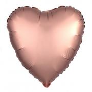 Шар (19''/48 см) Сердце, Медь, Сатин, 1 шт.