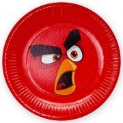 Тарелки (9''/23 см) Angry Birds, Красный, 6 шт.