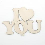 Топпер в торт, Я Люблю Тебя (сердце), 1 шт.