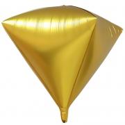 Шар 3D (27''/69 см) Алмаз, Золото, 1 шт.