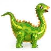 Шар (39''/99 см) Ходячая Фигура, Динозавр Стегозавр, Зеленый, 1 шт.