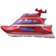 Шар (38''/97 см) Фигура, Яхта, Красный, 1 шт.