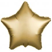 Шар (21''/53 см) Звезда, Золото, Сатин, 1 шт.