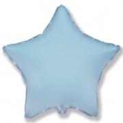 Шар (32''/81 см) Звезда, Голубой, 1 шт.