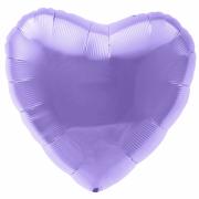 Шар (19''/48 см) Сердце, Аметист, 1 шт.
