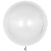 Шар (18''/46 см) Сфера 3D, Deco Bubble, Белый, Хром, 1 шт.