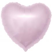 Шар (19''/48 см) Сердце, Светло-розовый, 1 шт.