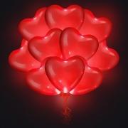 Светящися шар сердце (16''/41 см), 1 шт.