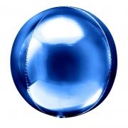 Шар (20''/51 см) Сфера 3D, Синий, 1 шт.