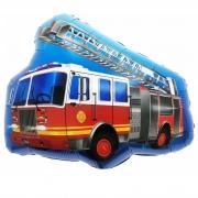 Шар (27''/69 см) Фигура, Пожарная машина с лестницей, 1 шт.