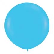 Большой шар (30''/75 см) Синяя бирюза, пастель, 1 шт.