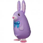 Шар (25''/64 см) Ходячая Фигура, Заяц, Фиолетовый, 1 шт.