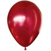 Шар (12''/30 см) Красный, хром, 1 шт.
