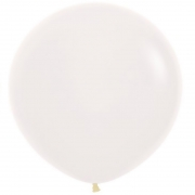 Большой шар (30''/75 см) Белый, пастель, 1 шт.