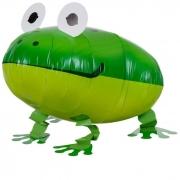 Шар (24''/61 см) Ходячая Фигура, Лягушка, Зеленый, 1 шт.